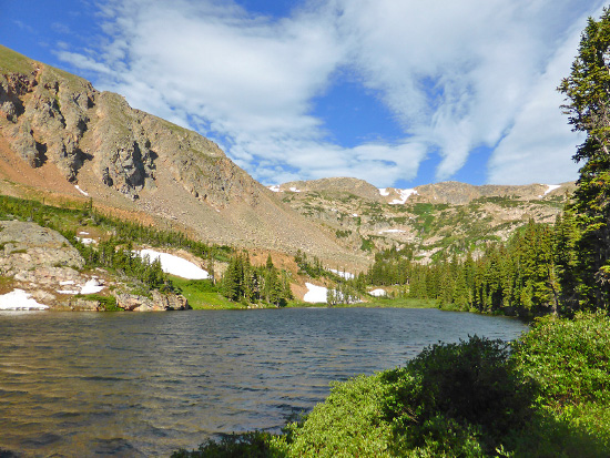 Clayton Lake in the James Peak Wilderness