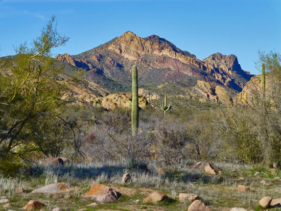 Unconformity in the Superstition Wilderness, Arizona